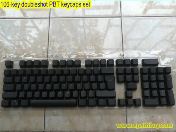 106-key doubleshot PBT keycaps set (Black)