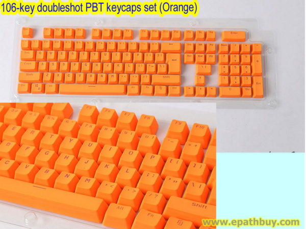 106-key doubleshot PBT keycaps set (Orange))