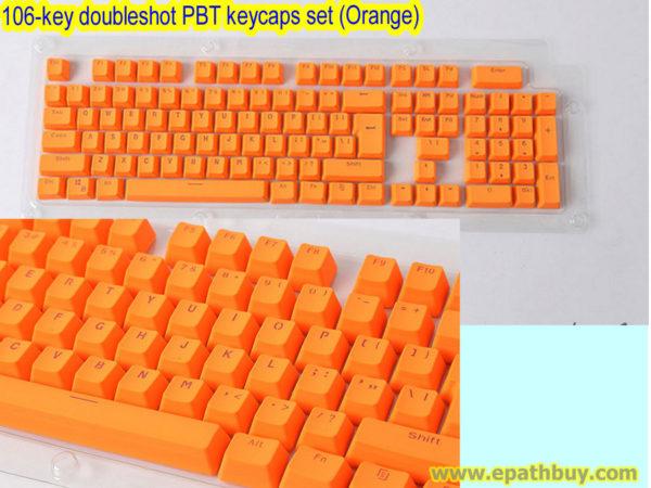 106-key doubleshot PBT keycaps set (Orange))