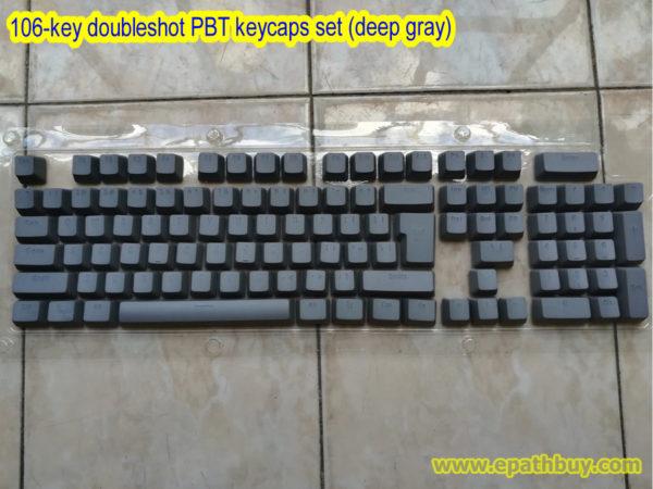 106-key doubleshot PBT keycaps set (deep gray)