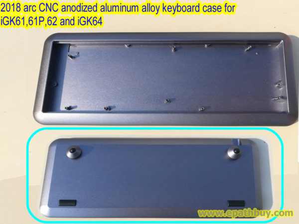 Custom 2018 arc CNC anodized aluminum alloy mechanical keyboard case for iGK61, iGK61P, iGK62 and iGK64