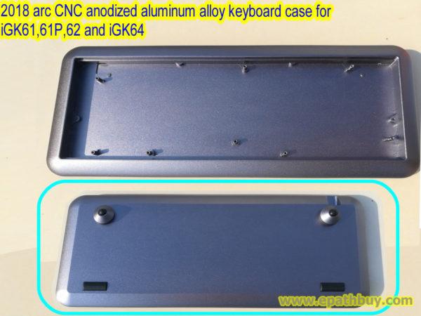 Custom 2018 arc CNC anodized aluminum alloy mechanical keyboard case for iGK61, iGK61P, iGK62 and iGK64