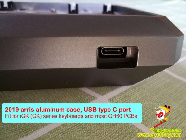 2019 arris aluminum keyboard case USB type c