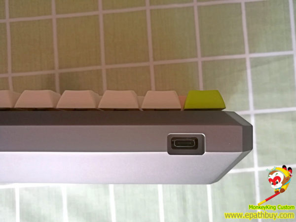 Custom arris aluminum keyboard case, dye-subbed pbt keycaps, GSA profile for iGK64S(GK64S), USB type C port