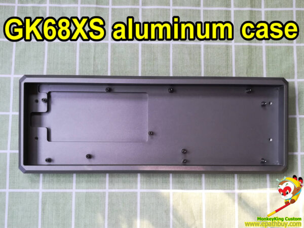 Custom 60% aluminum keyboard case for GK68XS mechanical keyboard, SK68 optical switch keyboard