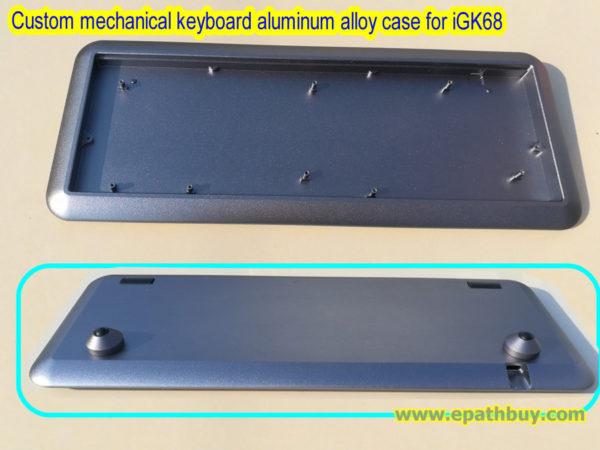 Custom mechanical keyboard case – 2018 arc CNC anodized aluminum alloy case for iGK68