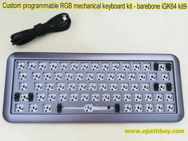 Custom programmable RGB mechanical keyboard DIY kit: hotswap PCB, build your own keyboard
