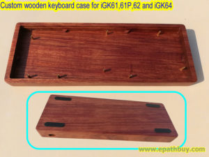 Custom wooden mechanical keyboard case for iGK61, iGK61P, iGK62 and iGK64