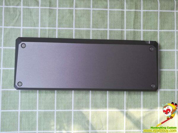GK68XS aluminum keyboard case back