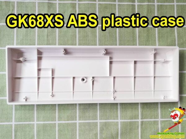 Custom 60 keyboard case for hot swappable mechanical keyboard GK68XS SK68, best white