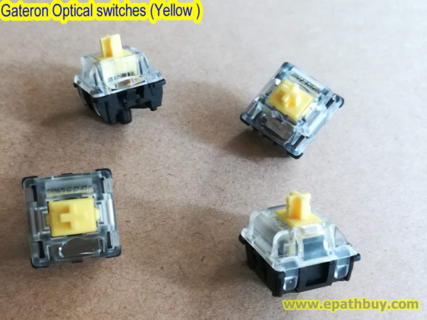 Gateron Optical switches (Yellow) for RGB mechanical keyboard