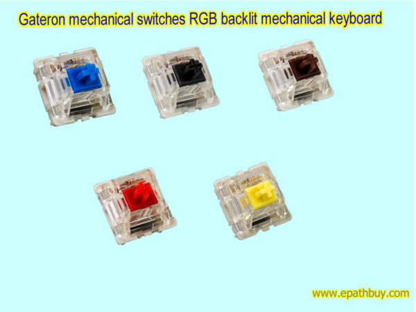 Gateron switches for mechanical keyboard