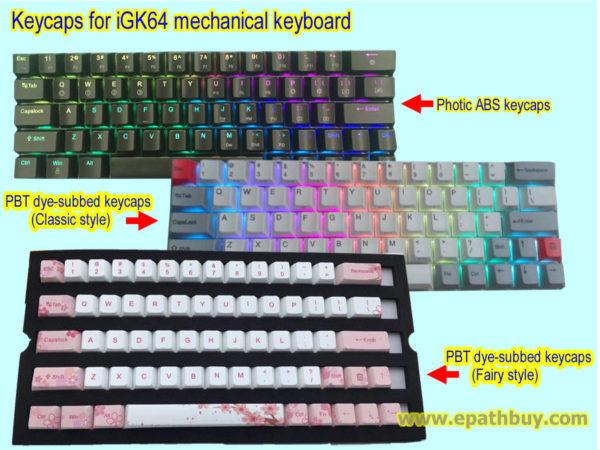 Keycaps for iGK64 mechanical keyboard