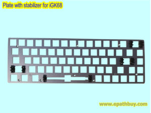 Custom mechanical keyboard plate with stabilizer for iGK68