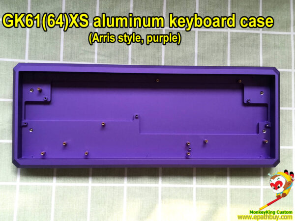 Purple aluminum keyboard case for GK61X GK61XS GK64X GK64XS, compatible with optical key switch keyboard SK61, SK64