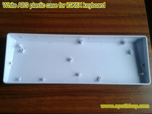 White ABS plastic case for iGK6X keyboard
