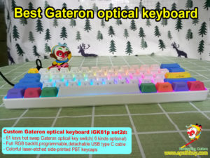 Mini optical switch keyboard,custom best 60 percent Gateron optical key switch mechanical keyboard