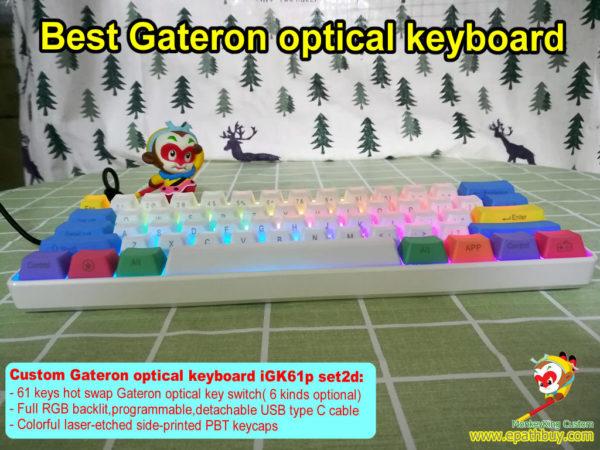 Mini optical switch keyboard,custom best 60 percent Gateron optical key switch mechanical keyboard