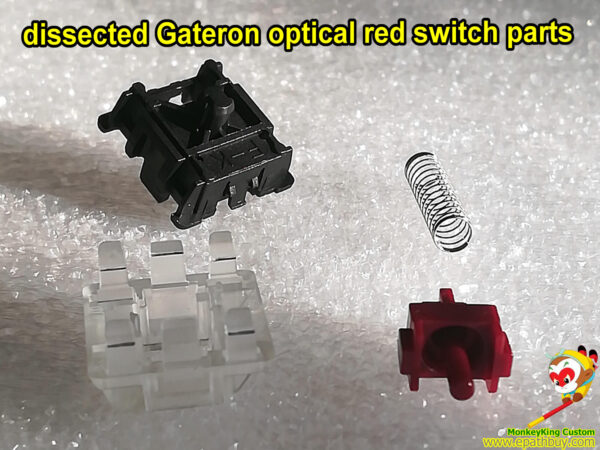 dissected gateron optical red switch parts
