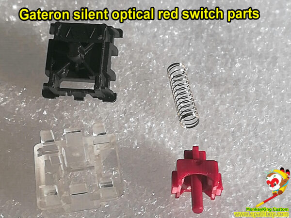 dissected gateron silent optical red switch parts