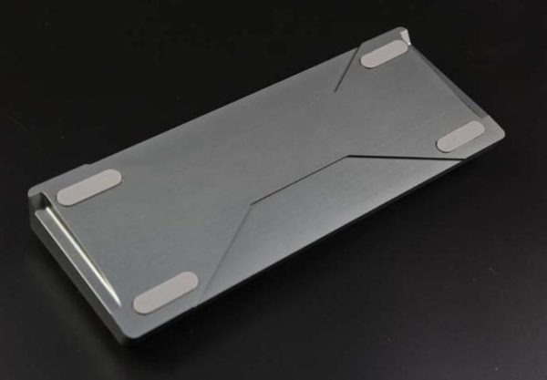 Metal case (aluminium alloy, silver gray) for iGK6X mechanical keyboard