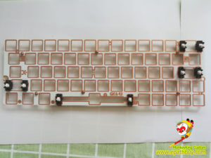iGK64(GK64) fiber glass plate w/ stabilizer (Gateron Taiji satellite axis)