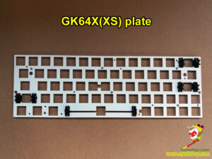 GK64X plate,GK64XS keyboard plate,iGK64X & iGK64XS-bt mechanical keyboard plate, steel made, normal 6.25u spacebar