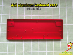 Custom aluminum keyboard case red for 60% keyboard, fit iGK6X(XS-bt), iGK64X(XS-bt), GK61X(XS), GK64X(XS), compatible w/ SK61, SK64 & some GH60 PCB