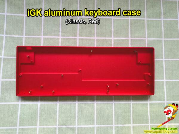 Custom aluminum keyboard case red for 60% keyboard, fit iGK6X(XS-bt), iGK64X(XS-bt), GK61X(XS), GK64X(XS), compatible w/ SK61, SK64 & some GH60 PCB
