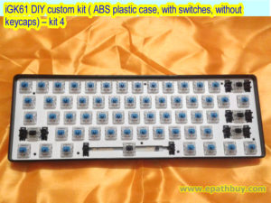 iGK61 DIY custom kit ( ABS plastic case, with switches, without keycaps) – kit 4