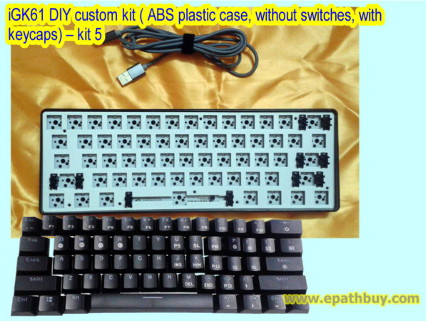 iGK61 DIY custom kit ( ABS plastic case, without switches, with keycaps) – kit 5