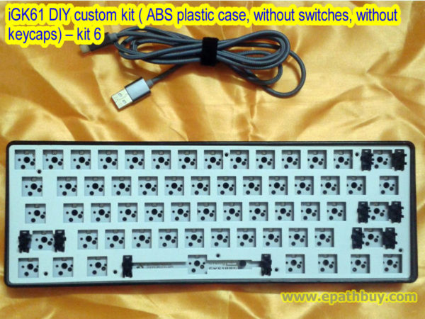 iGK61 DIY custom kit ( ABS plastic case, without switches, without keycaps) – kit 6
