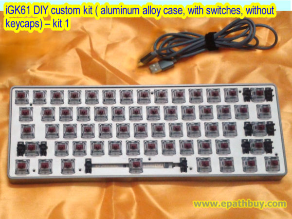 iGK61 DIY custom kit ( aluminum alloy case, with switches, without keycaps) – kit 1