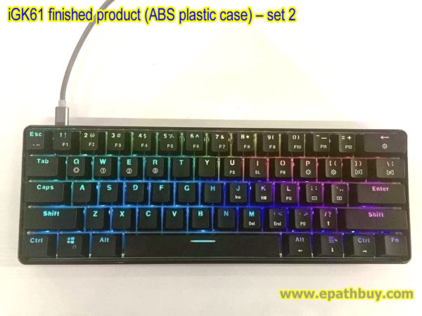 iGK61 finished product (ABS plastic case) – set 2