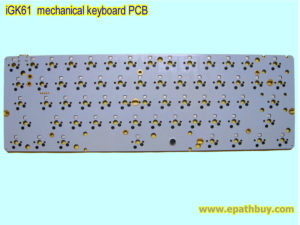 iGK61 mechanical keyboard PCB, 61-key poker layout, with hotswappable switch design, DIY custom built kit