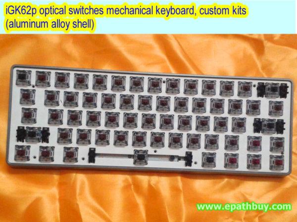iGK62 optical switches mechanical keyboard, custom kits (aluminum alloy case)