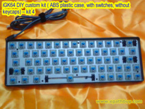 iGK64 DIY custom kit ( ABS plastic case, with switches, without keycaps) – kit 4