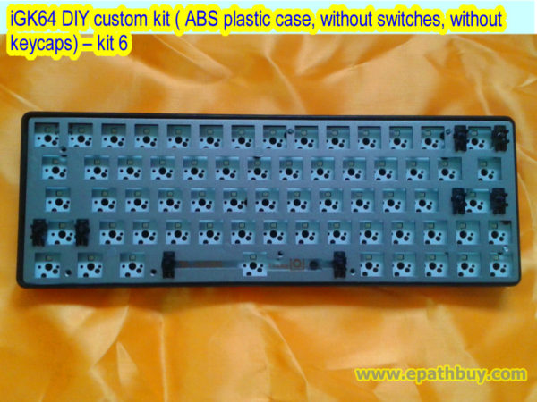 iGK64 DIY custom kit ( ABS plastic case, without switches, without keycaps) – kit 6