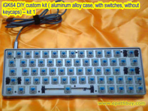 iGK64 DIY custom kit ( aluminum alloy case, with switches, without keycaps) – kit 1