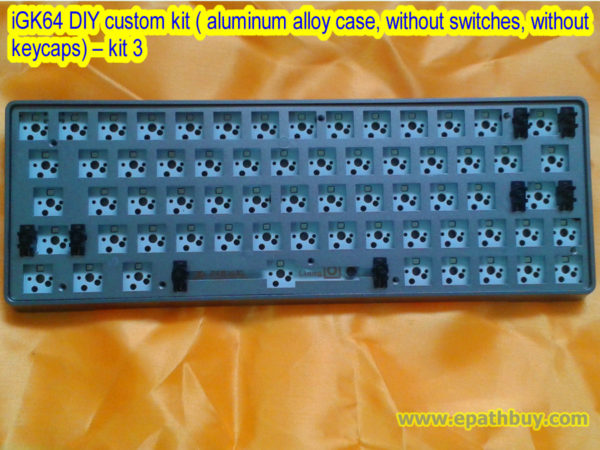iGK64 DIY custom kit ( aluminum alloy case, without switches, without keycaps) – kit 3
