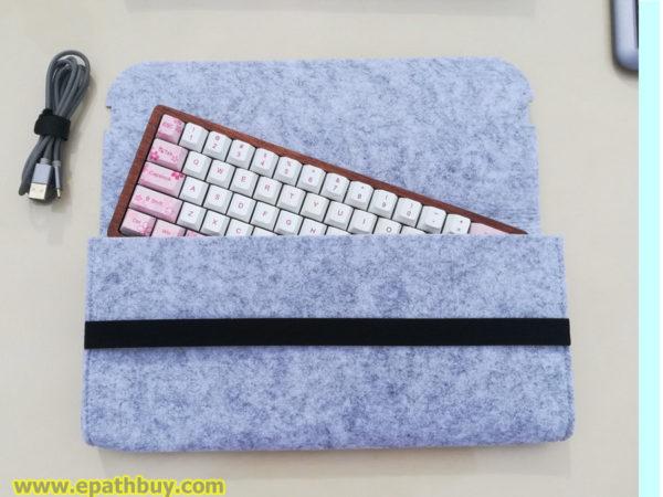 iGK64 mechanical keyboard felt pouch