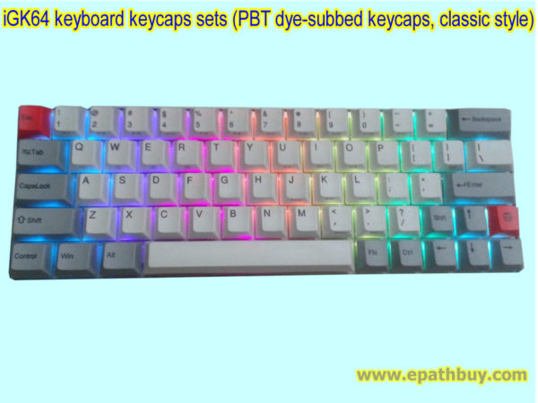 iGK64 keyboard keycaps sets (PBT dye-subbed keycaps, classic)