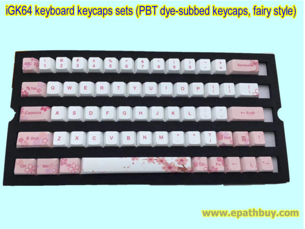 iGK64 keyboard keycaps sets (PBT dye-subbed keycaps, fairy style)
