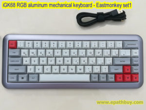 iGK68 RGB aluminum mechanical keyboard - Eastmonkey set1,68-key hot swappable keyboard