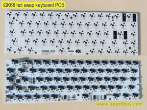 iGK68 68-key hot swap keyboard PCB with Kailh socket, RGB backlighting, fully programmable