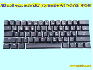 ABS backlit Keycap sets for iGK61 programmable mechanical keyboard (60% keyboard)