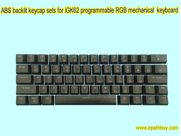 ABS backlit Keycap sets for iGK62 programmable mechanical keyboard (60% keyboard)