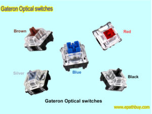 Gateron Optical switches for RGB mechanical keyboard