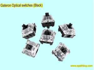 Gateron Optical BLACK switches for RGB mechanical keyboard