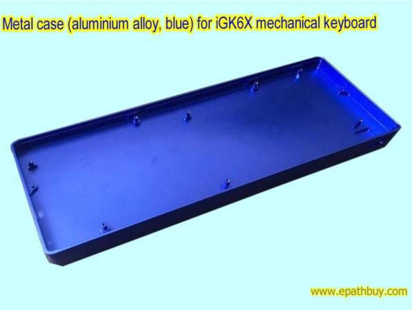 Metal case (aluminium alloy, blue) for iGK6X mechanical keyboard